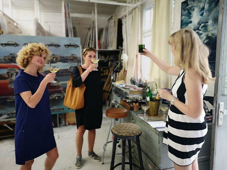 FrauenArt, im Atelier, Dorothea Schüle, Art Consulting Mese