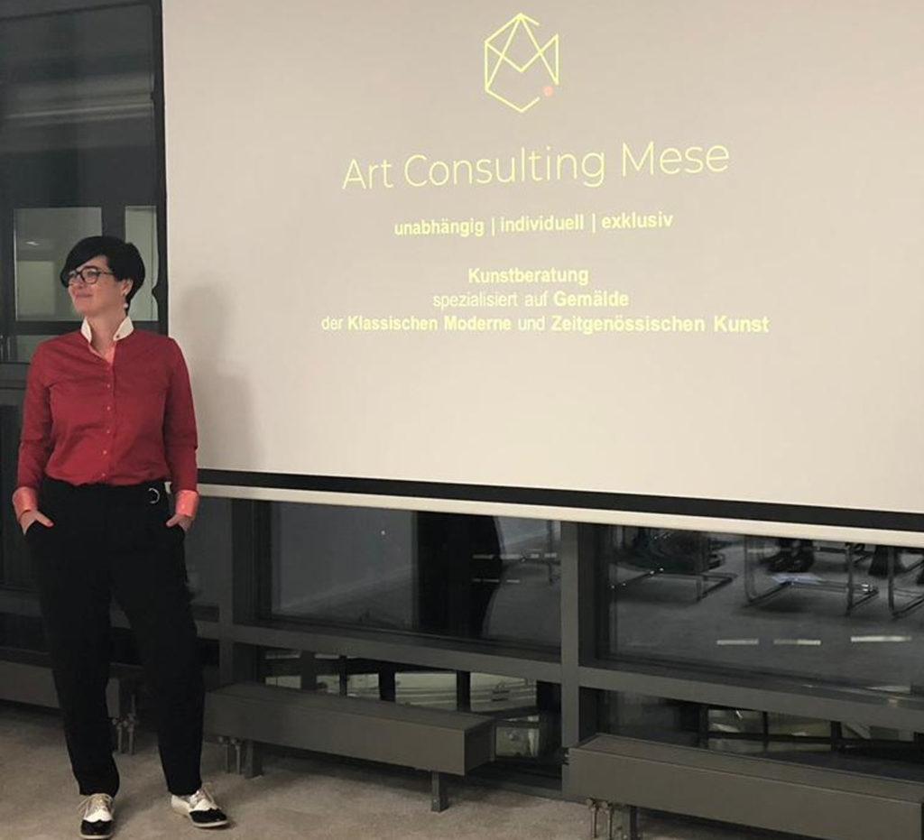 (c) Art Consulting Mese - Agnieszka Mese beim Kunstvortrag in der Kanzlei TIGGES Rechtsanwäte Partnerschaft mbB