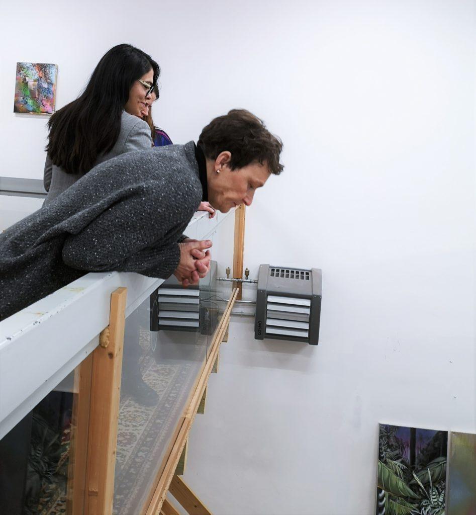(c) Art Consulting Mese, auf der Empore/Galerie im Atelier von Silke Albrecht bei der FrauenArt im Februar 2020