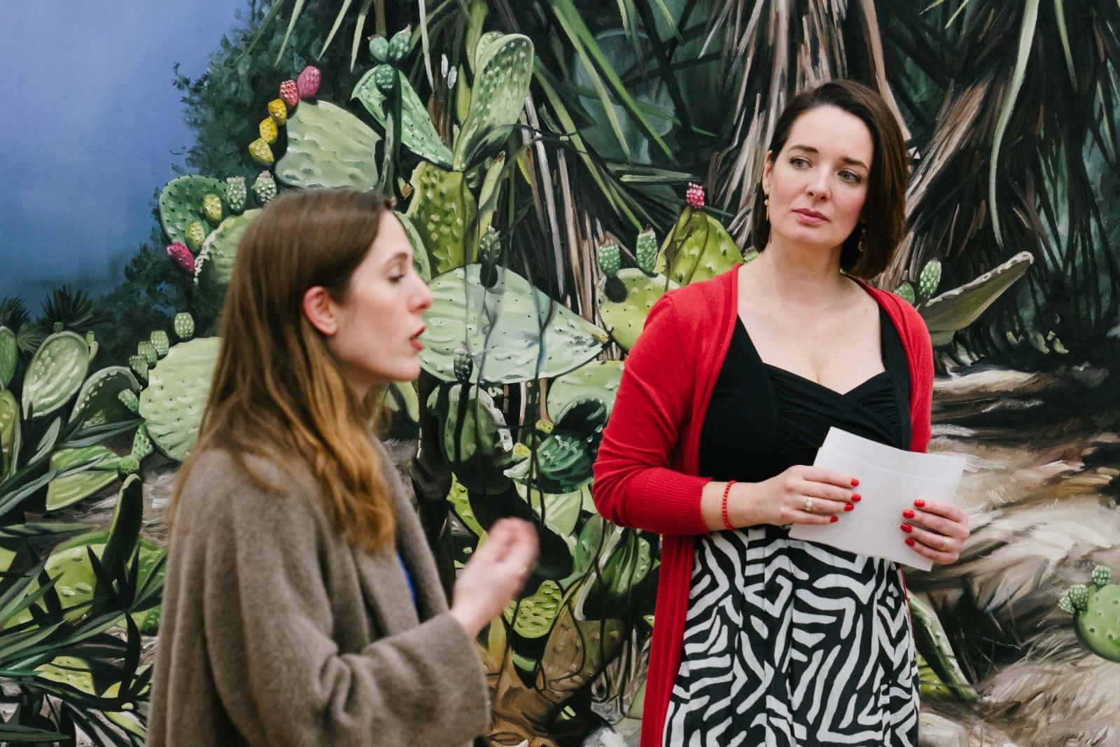 (c) Ania Holthausen - Agnieszka Mese und die Künstlerin Silke Albrecht bei der FrauenArt am 18.02.2020 im Atelier der Künstlerin